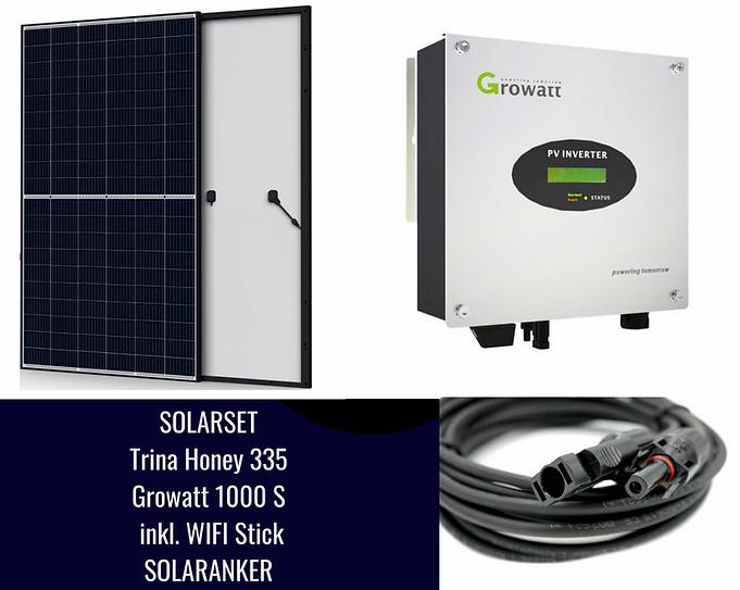 1005 Watt Einspeiseanlage Solaranlage